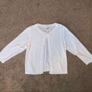 3/4 sleeve one-button cardigan